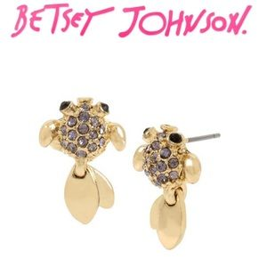 Betsey Johnson Festival Mermaid Tadpole Earrings
